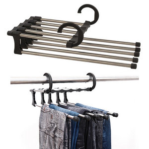 Stainless Steel Multifunctionele Retractable Broeken Hanger Jeans Holder