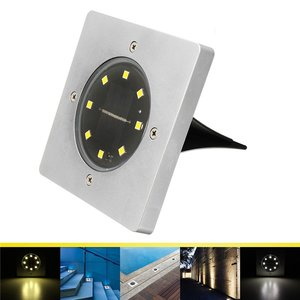 8 LED Solar Light Begraven Grond Lamp Lichtsensor Solar Tuin Licht Outdoor Path Way Decking
