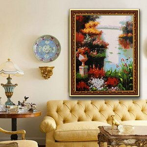 Frameless Modern Large Art Oil Painting Canvas Abstract Scenery Home Decor